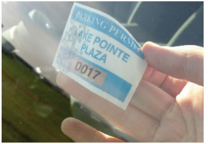 Parking Permit Window Decals