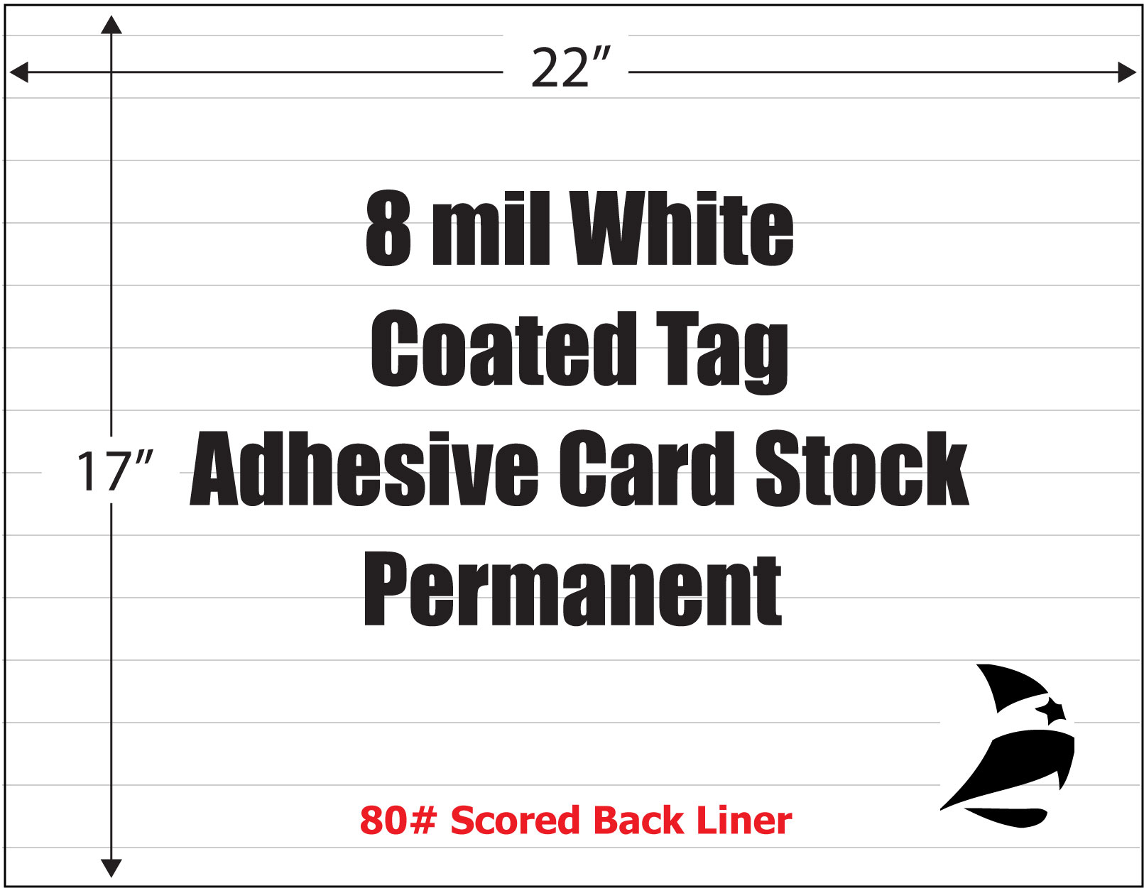 Coated Tag 8 Mil White Adhesive Card Stock Permanent