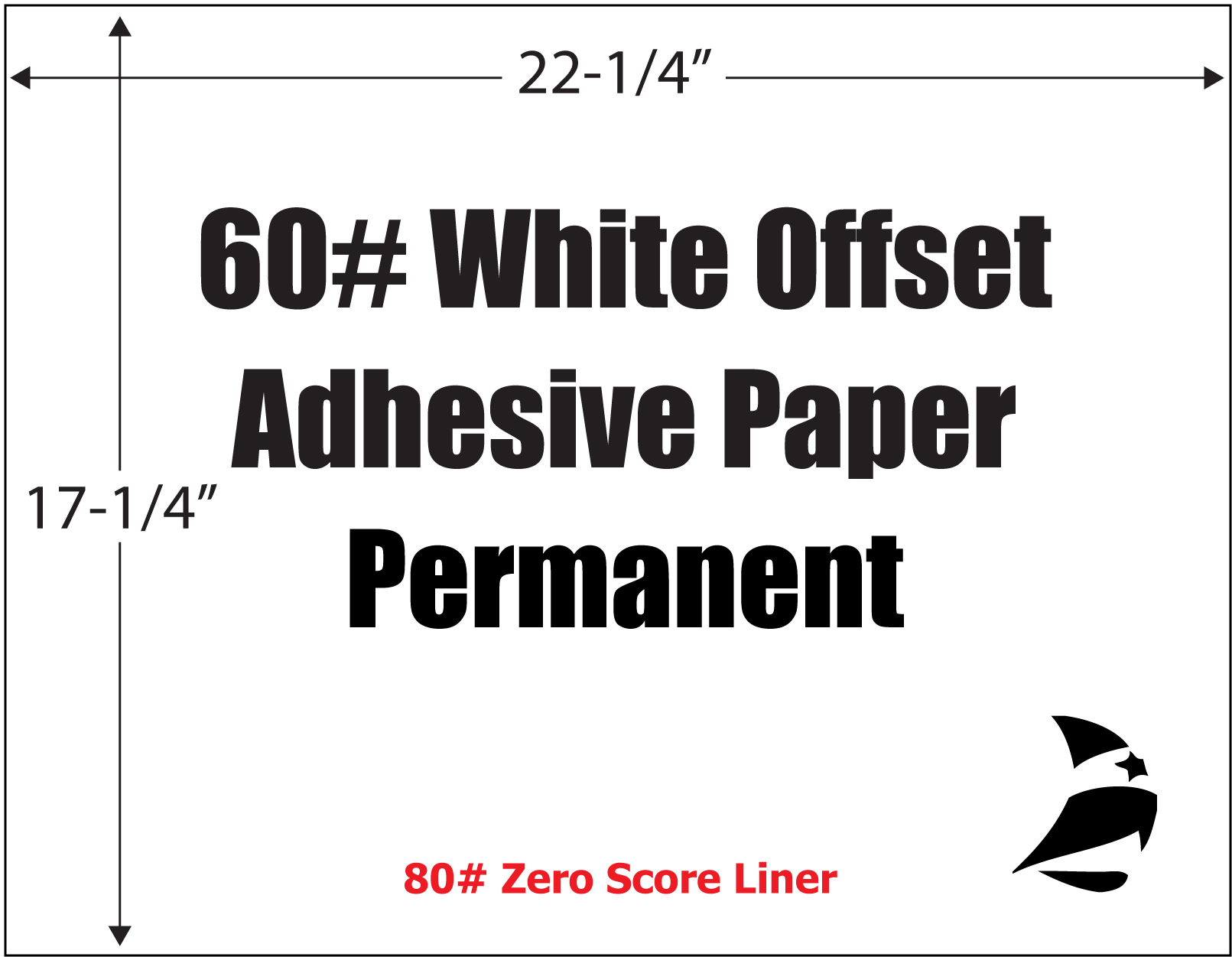 Diversiprint 174 60 Bright White Offset Adhesive Paper