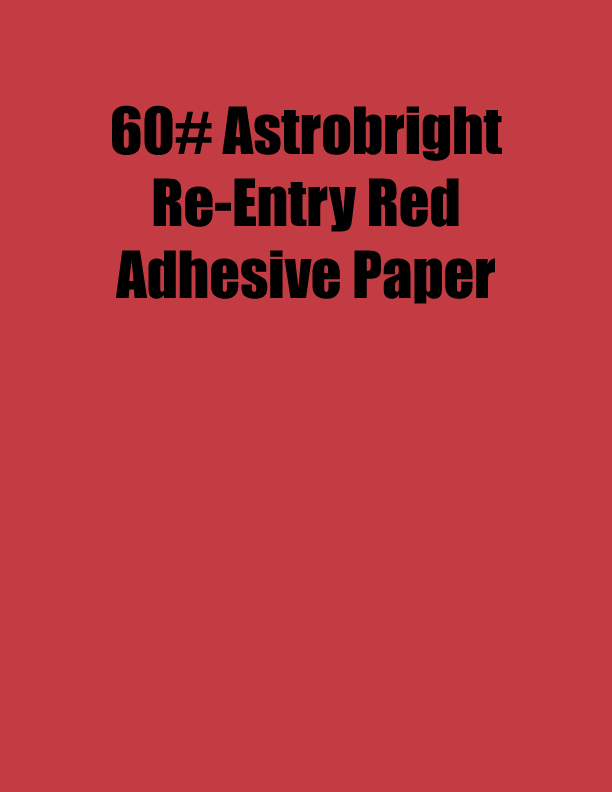 Astrobright Re Entry Red 60 Adhesive Paper Strip Tac