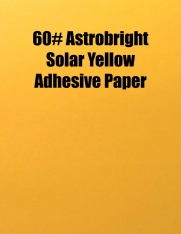 60# Astrobright Solar Yellow Adhesive Paper, Strip-Tac Plus®, Permanent, 8.5 x 11, 100 Sheets/Box