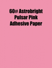 Astrobright Pulsar Pink 60# Adhesive Paper, Strip-Tac Plus®, Permanent, 8.5 x 11, 100 Sheets/Box