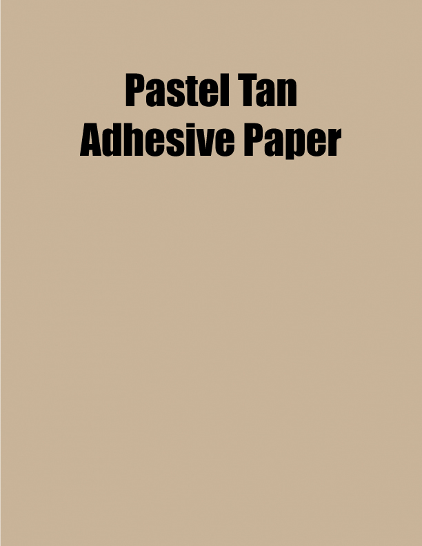 Pastel Tan Adhesive Paper 8 5 X 11 1 Up 100 Sheet Box