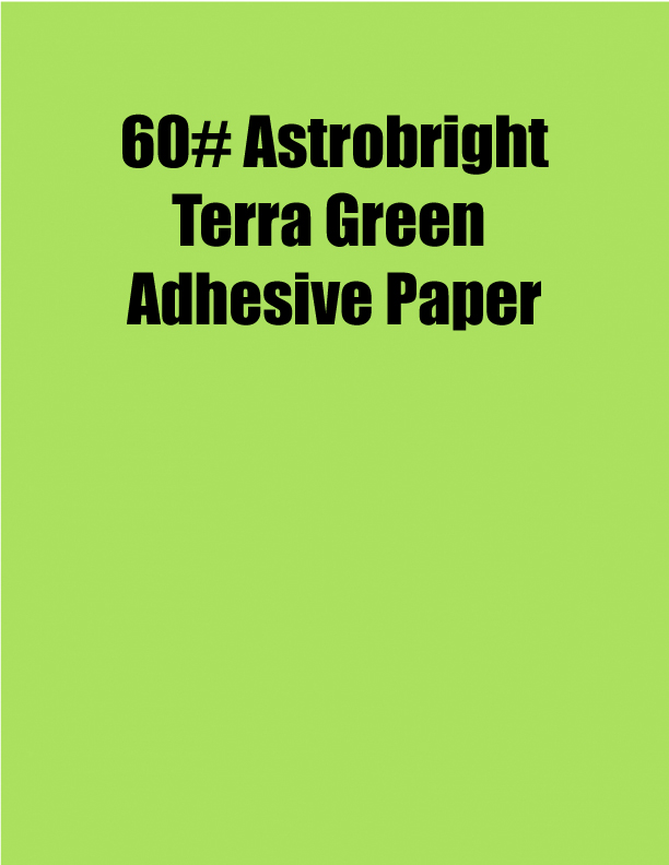 Astrobright Terra Green 60 Adhesive Paper Strip Tac Plus