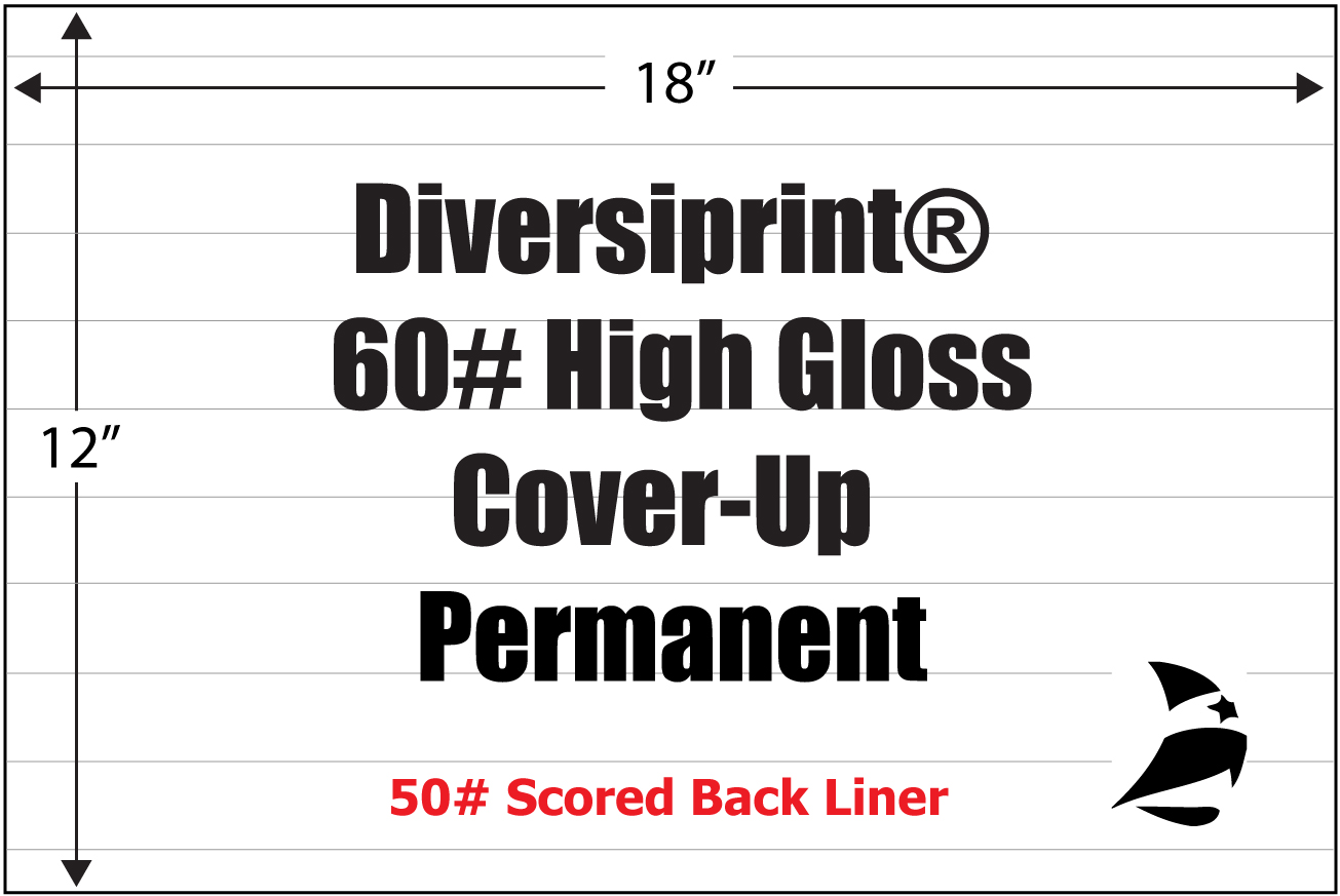 Diversiprint 174 High Gloss 60 Cover Up Permanent Scored