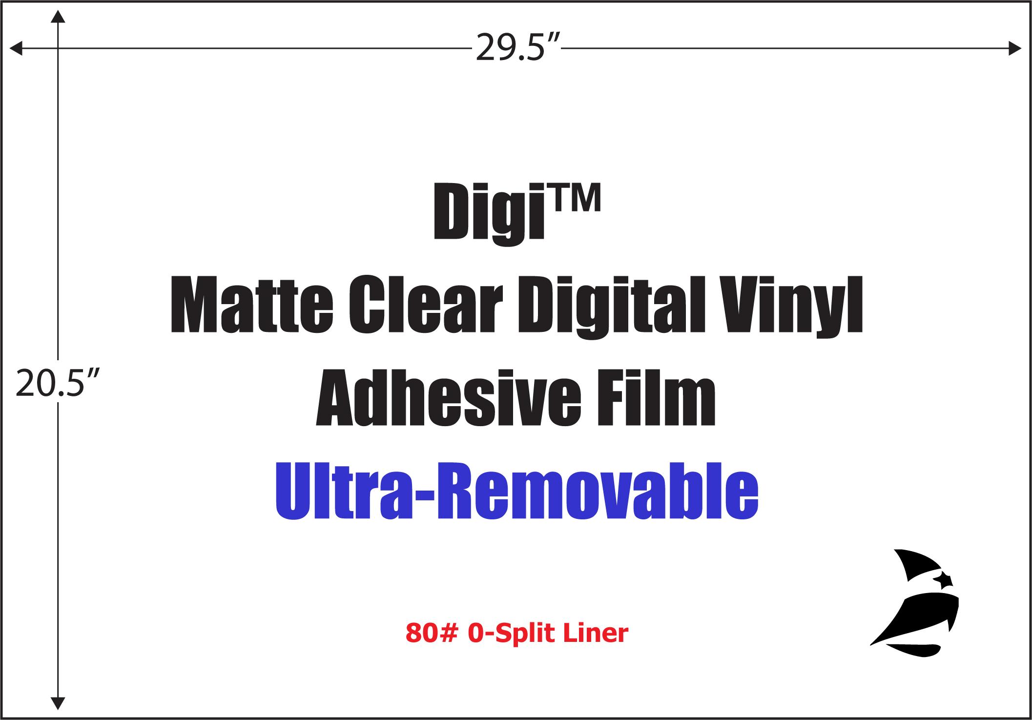 Digi Matte Clear Digital Vinyl 29 5 Quot X 20 5 Quot Ultra