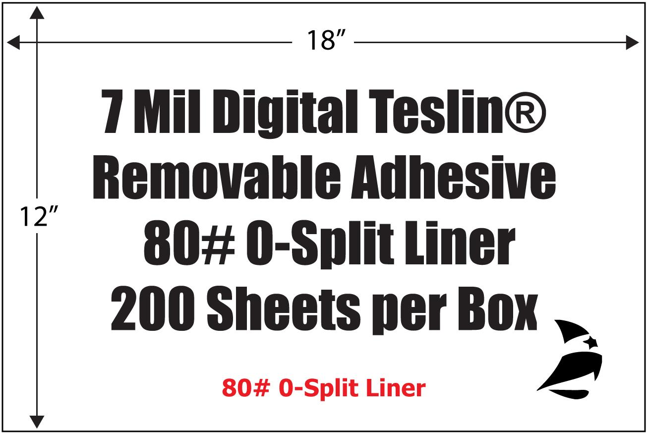 Teslin 174 7 Mil Digital 12 X 18 Sheets Removable Adhesive