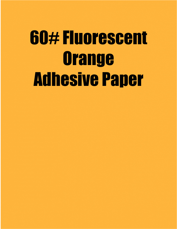 Fluorescent Orange 60 Adhesive Paper Strip Tac Plus