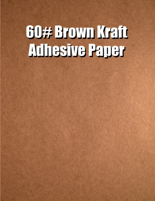 Brown kraft crack n peel 60 adhesive paper 17 x 22