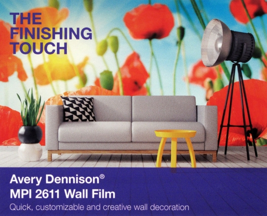 Avery Dennison® MPI 2611 Removable Wall Film, 54
