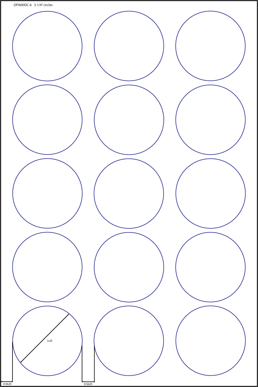 15 Up Labels 3 1 4 Quot Circles 100 Sheets 60 High Gloss