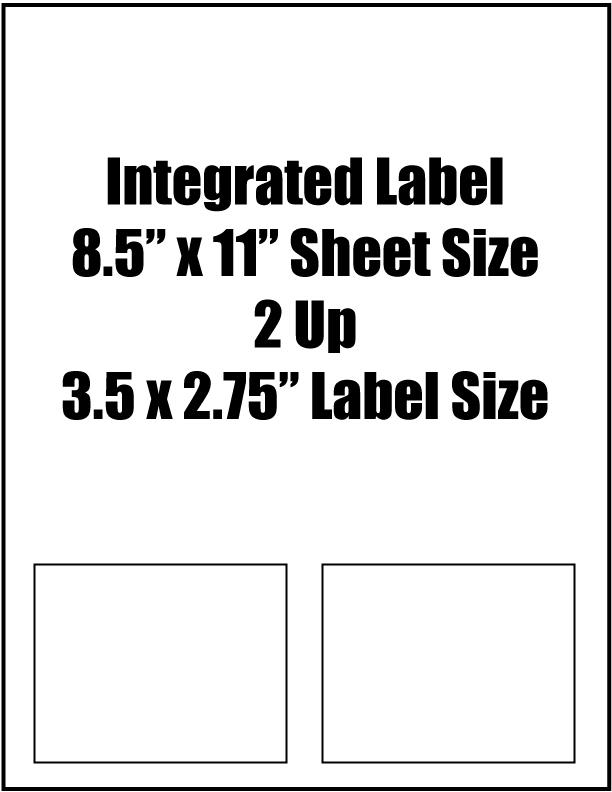 Integrated Label 3 5 Quot X 2 75 Quot Label Size 2 Up 8 5 Quot X 11