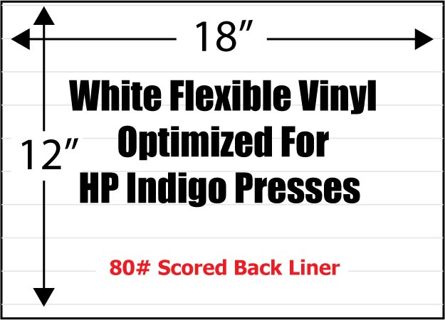 White Flexible 3 4 Mil Adhesive Vinyl Optimized For Hp
