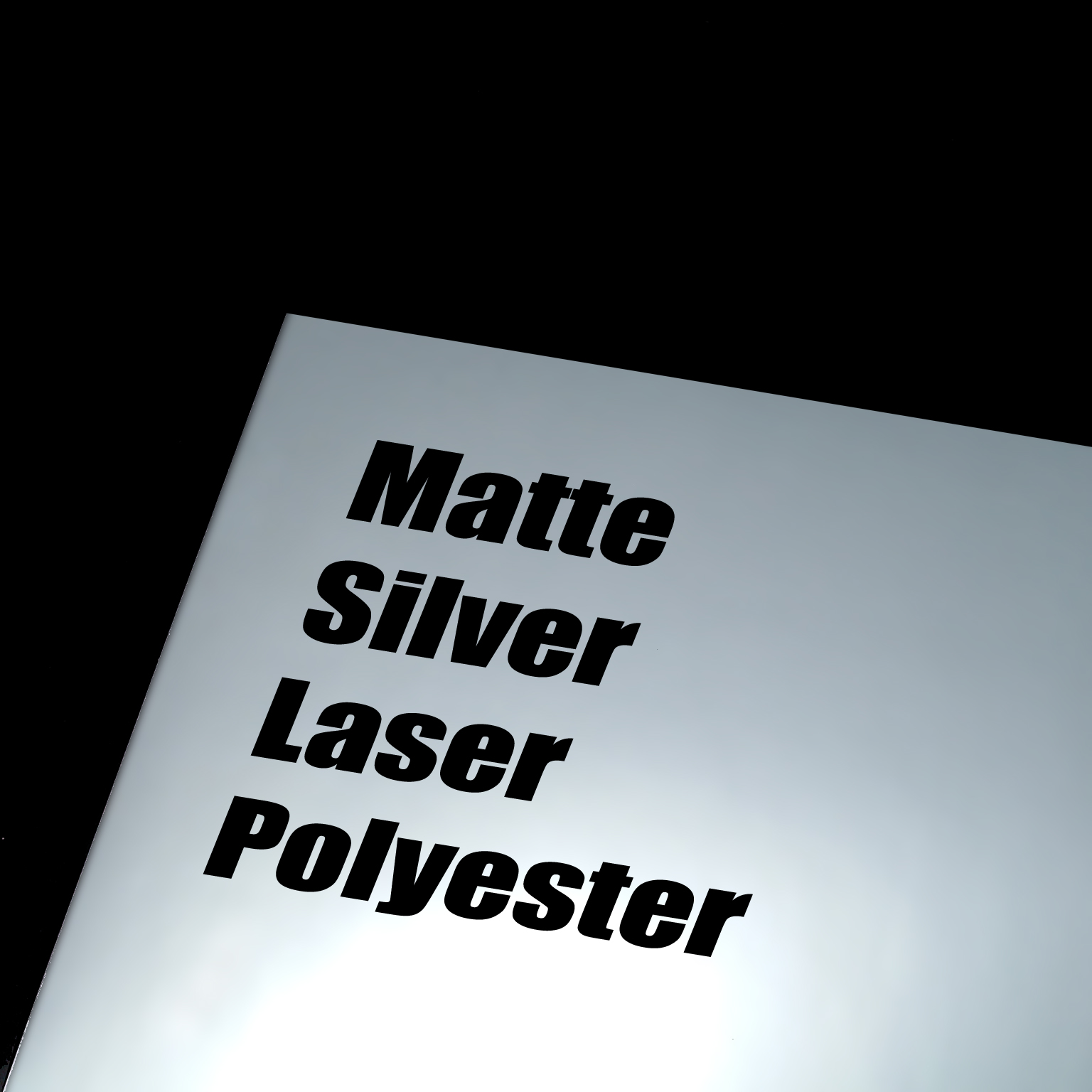 Matte Silver Laser Polyester Adhesive Film 100 Sheets Per