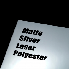 Matte Silver Laser Polyester Adhesive Film, 100 Sheets per Box