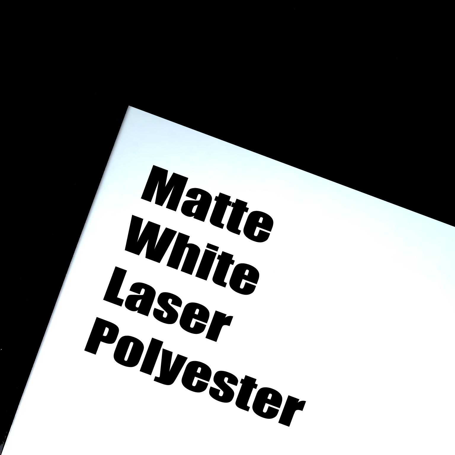 Matte White Laser Polyester Adhesive Film 8 5 X 11 100