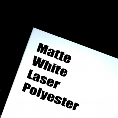 Matte White Laser Polyester Adhesive Film, 100 Sheets per Box